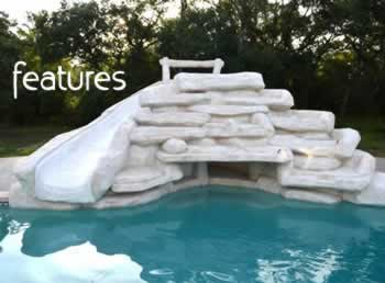 We build interesting swimming pool features