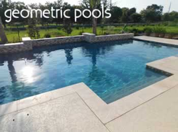 We build stunning geometric pools